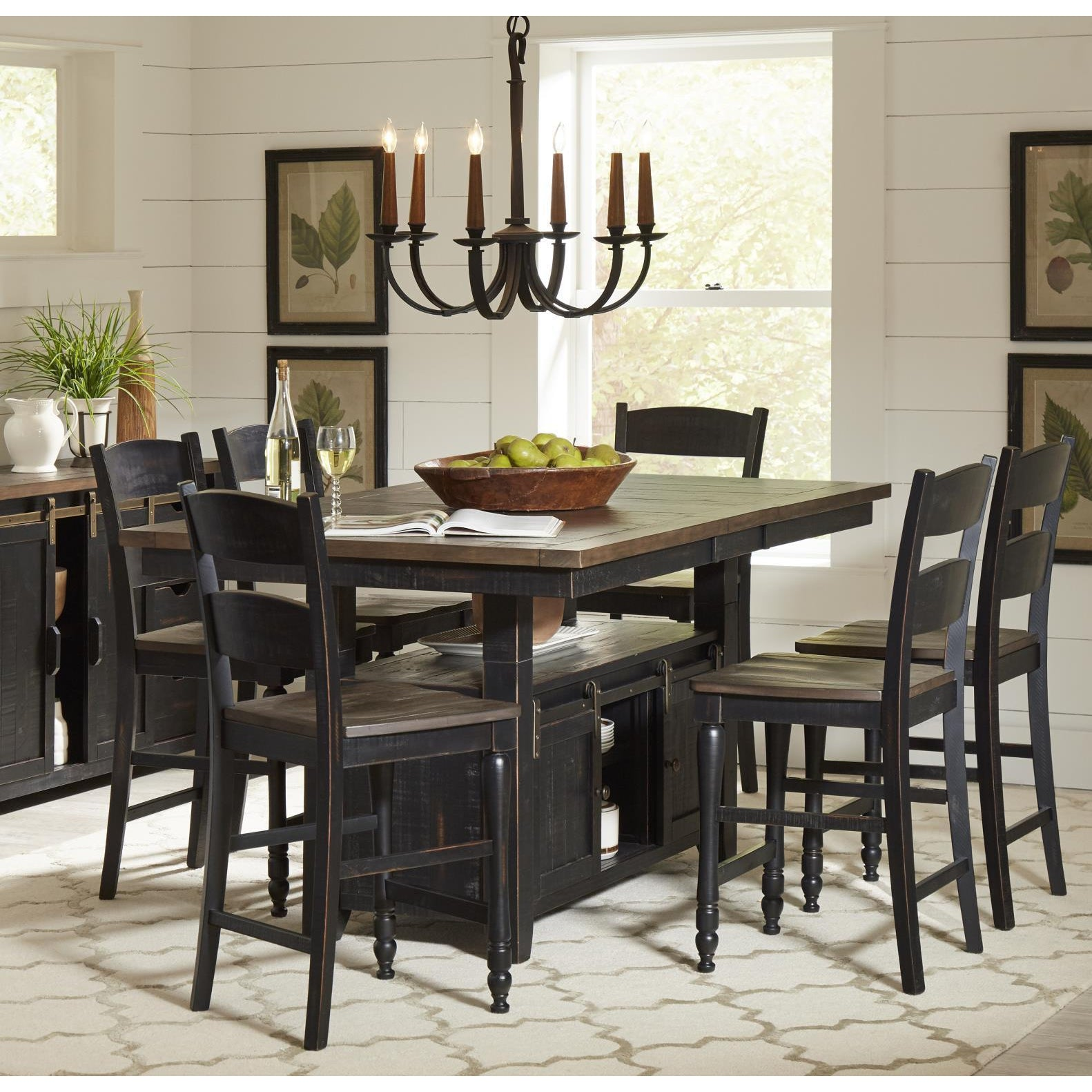 Urban Loft 7-Piece Adjustable Height Dining Set