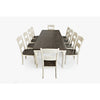 Urban Loft 7-Piece Extendable Dining Set in Vintage White