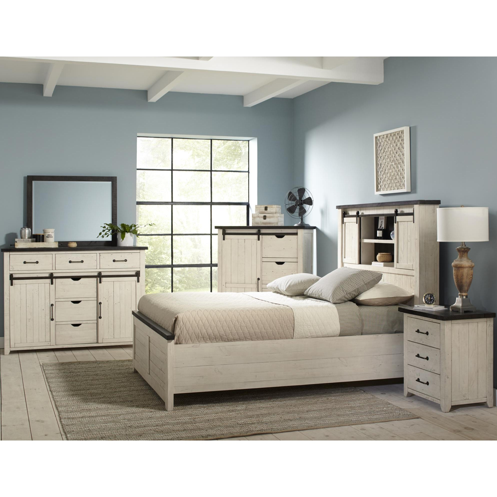 Urban Loft 4-Piece Queen Bedroom Set (Queen Bed, Dresser, 2 Nightstands)