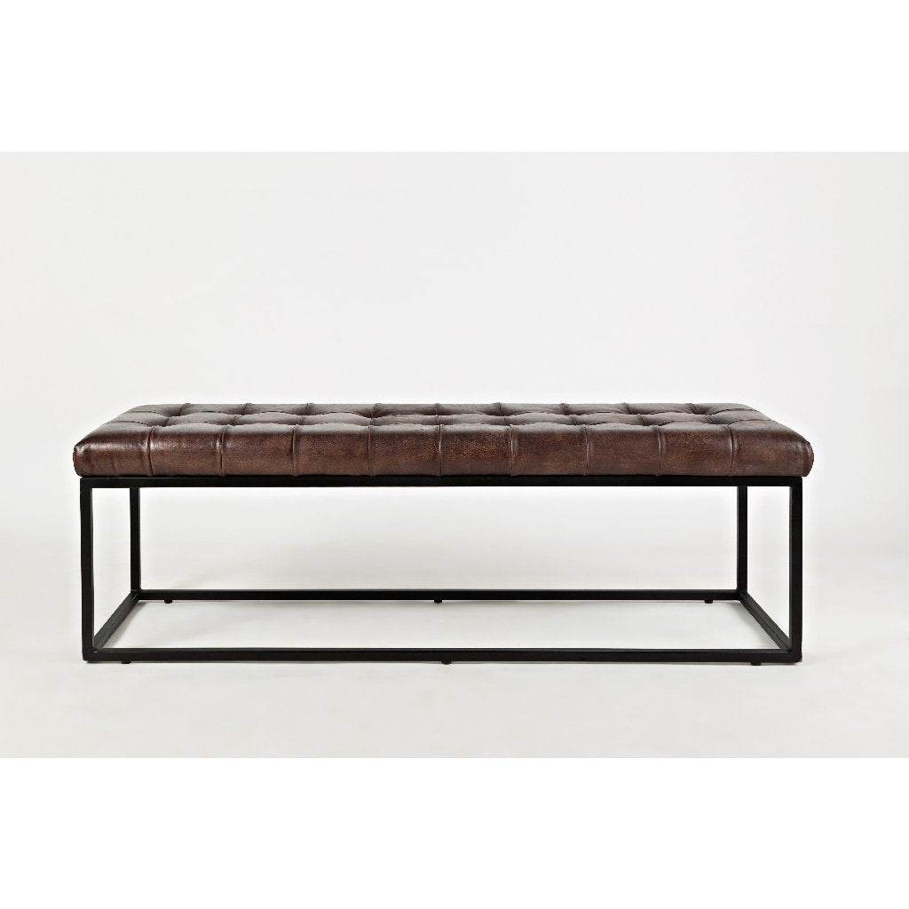 Global Archive Leather Bench