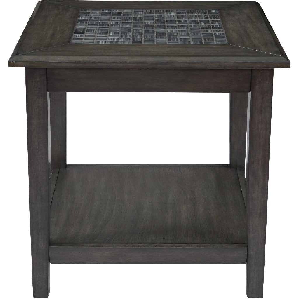 Grey Mosaic End Table