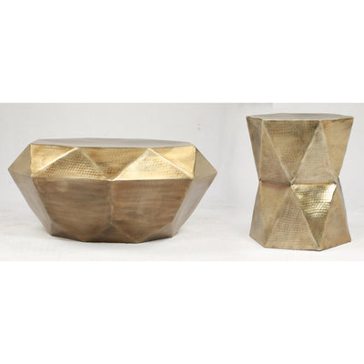 Olivia Geometric End Table