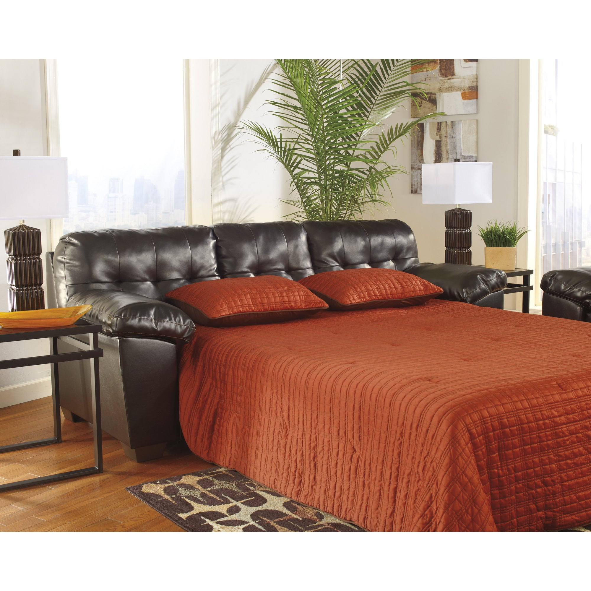 Alliston DB  Chocolate Queen Sofa Sleeper