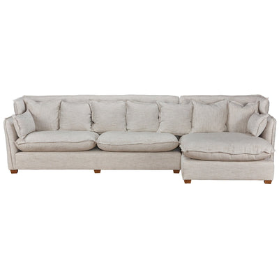 Leona Sectional w/RAF Chaise Beige