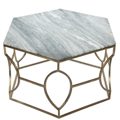 Barron Hexagon Cocktail Table - Marble