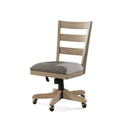 Perspectives Wood Back Upholstered Desk Chair