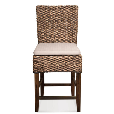 Mix-n-Match Chairs Woven Contr Upholstered Stool Set of 2
