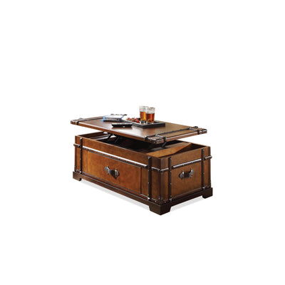 Latitudes Steamer Trunk Liftop Cocktail Table