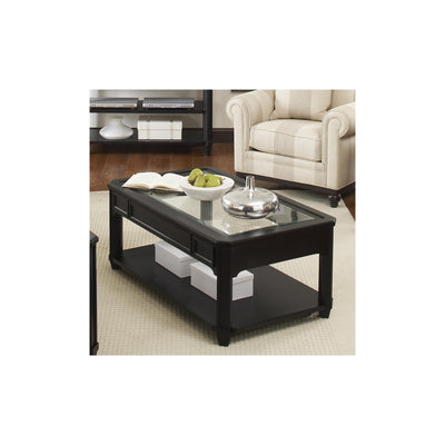 Farrington Rectangular Cocktail Table - Glass Top