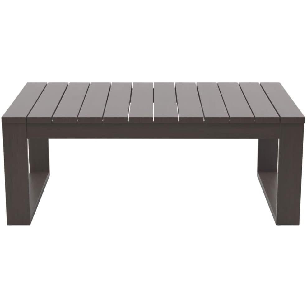 Sag Harbor Outdoor Aluminum Slatted Coffee Table