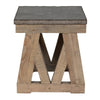 Marbella End Table  Stone Top