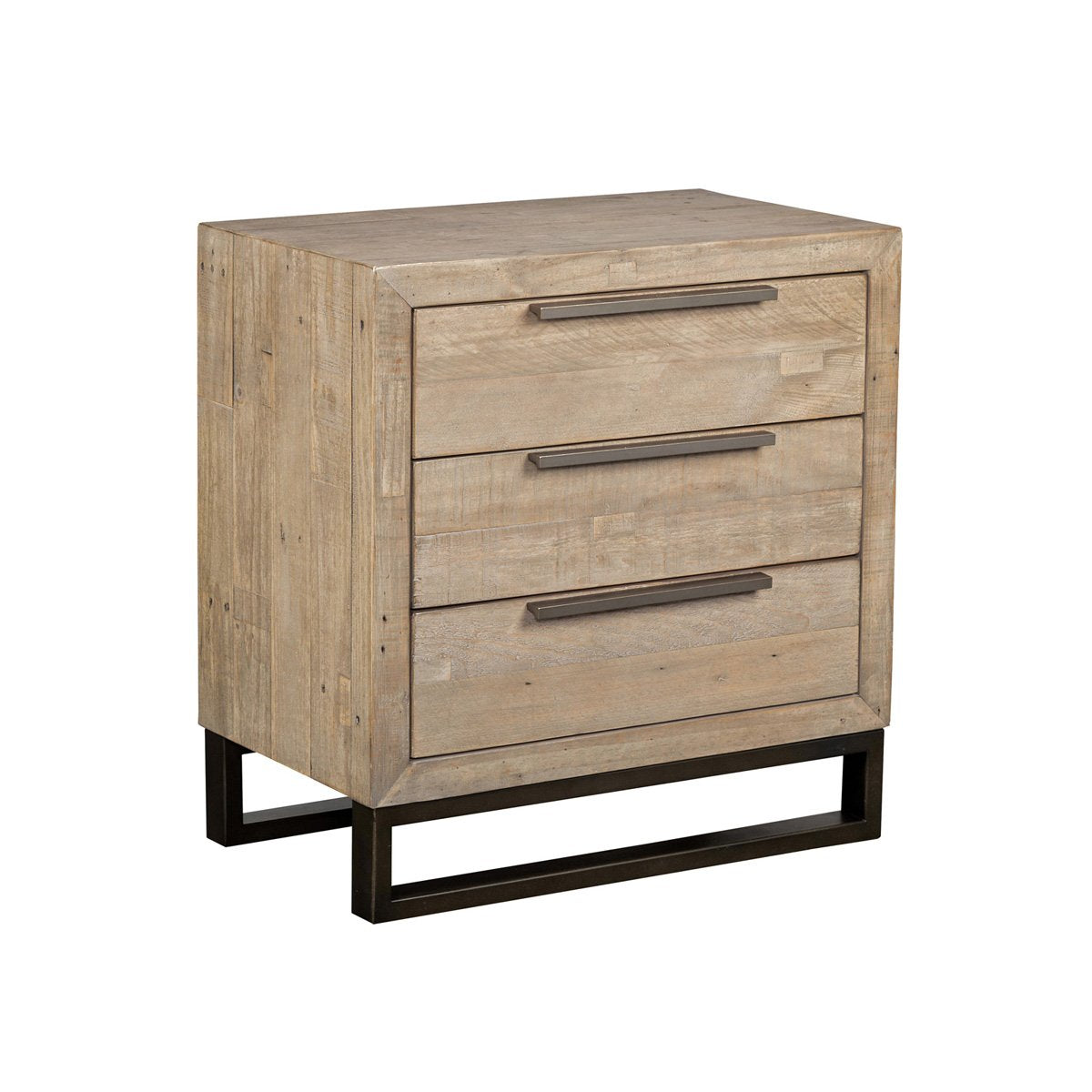 Vogue 3-Drawer Nightstand Taupe
