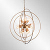 Cosmos Iron Chandelier Large w/- bulb
