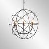 Derince Iron Chandelier Small w/- bulb
