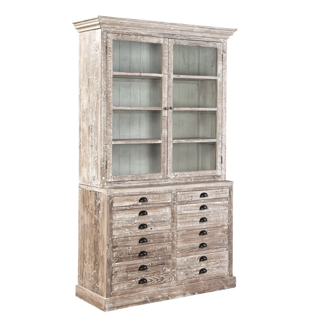 Reclaimed Old Fir Apothecary Bookcase