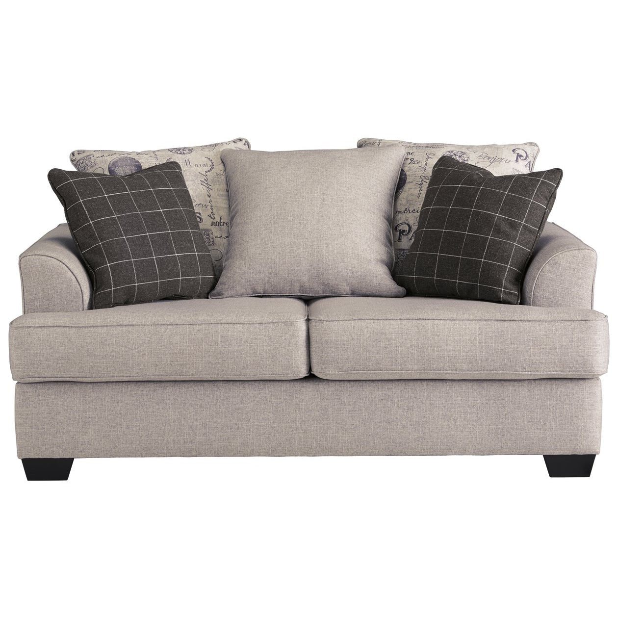 Velle Pewter Loveseat