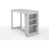 Tribeca Counter Height Dining Table with Shelving - Ash Grey