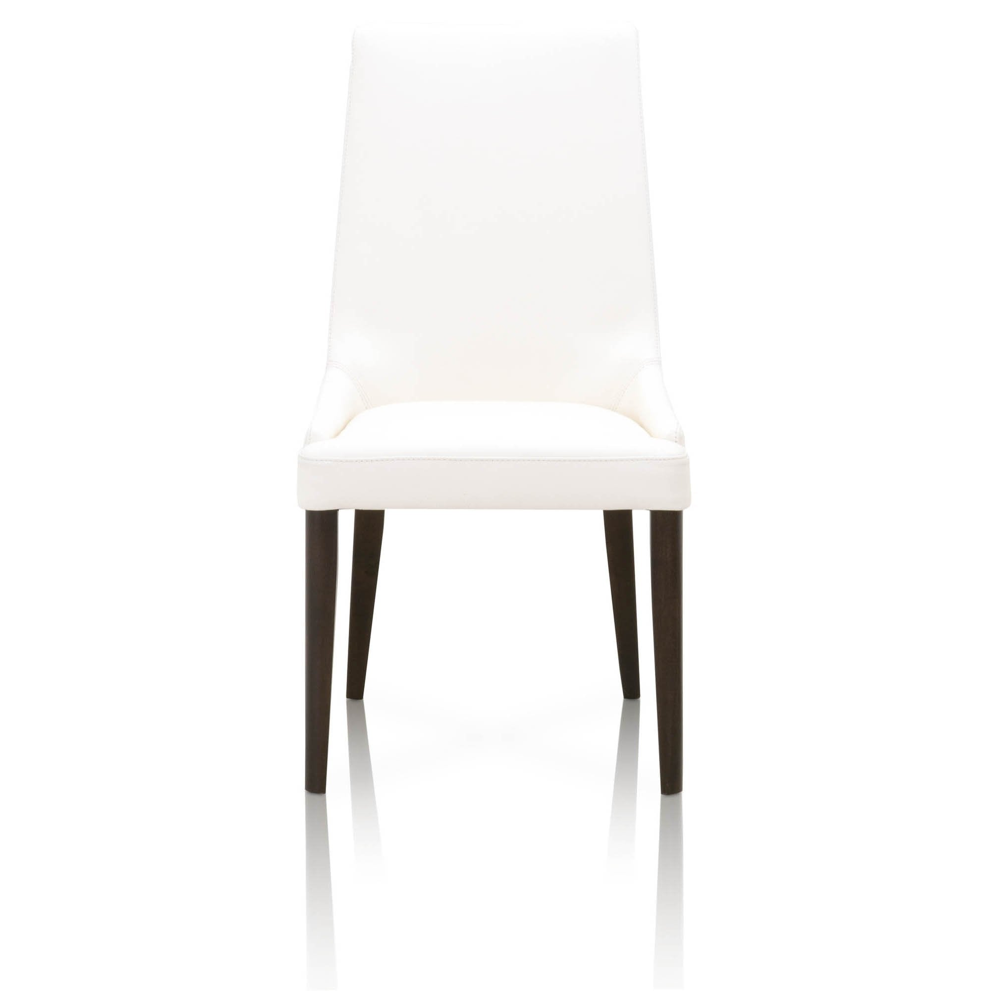 Aurora Dining Chair (Set of 2) in Dark Wenge Alabaster Leather