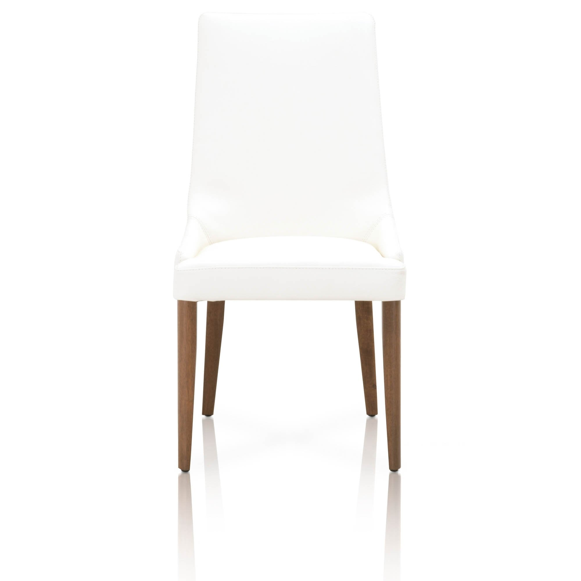 Aurora Dining Chair (Set of 2) in Walnut Alabaster Leather