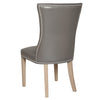 Avery Dining Chair (Set of 2) in Pebble Bonded Leather