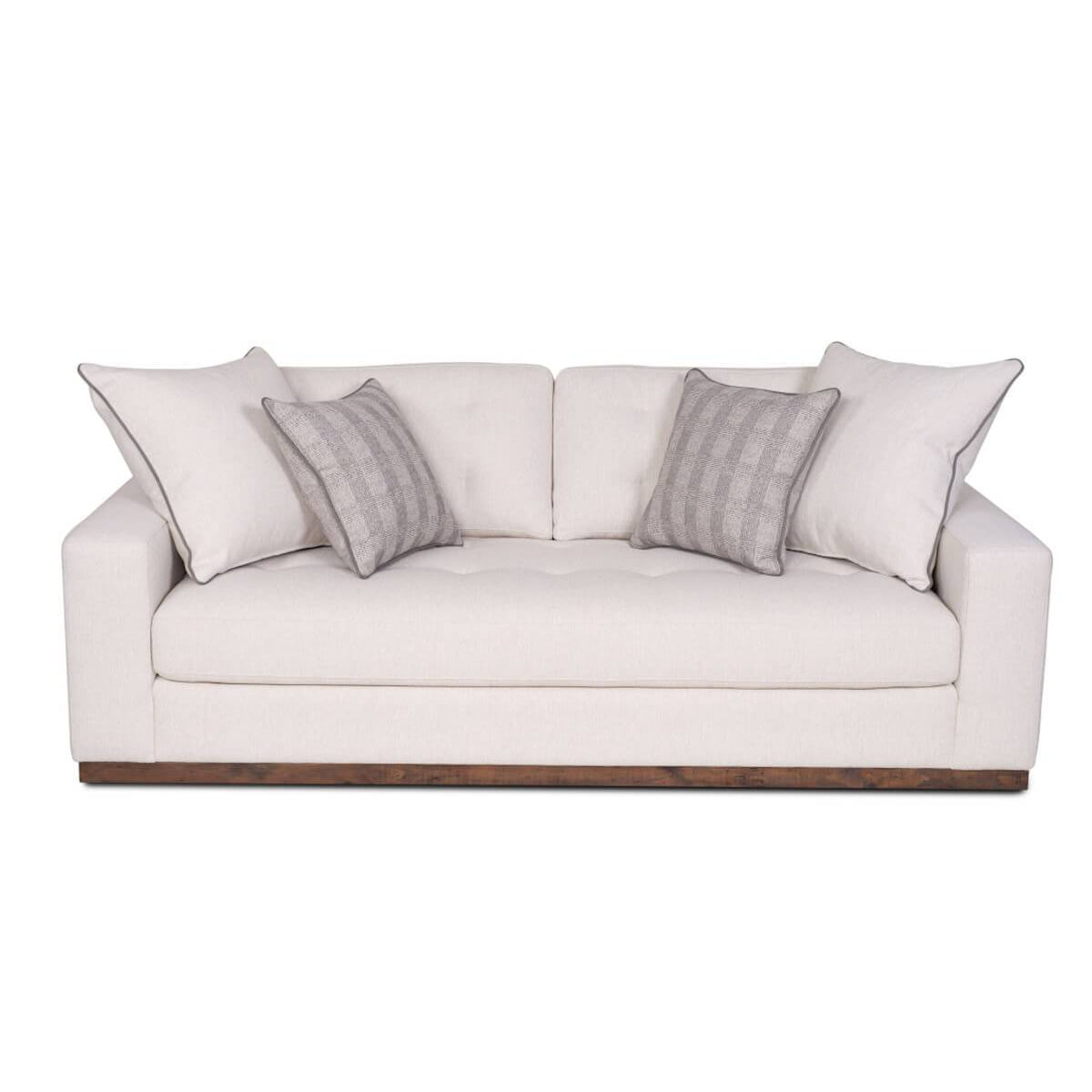 Zeus Performance Fabric Sofa with Power Outlet