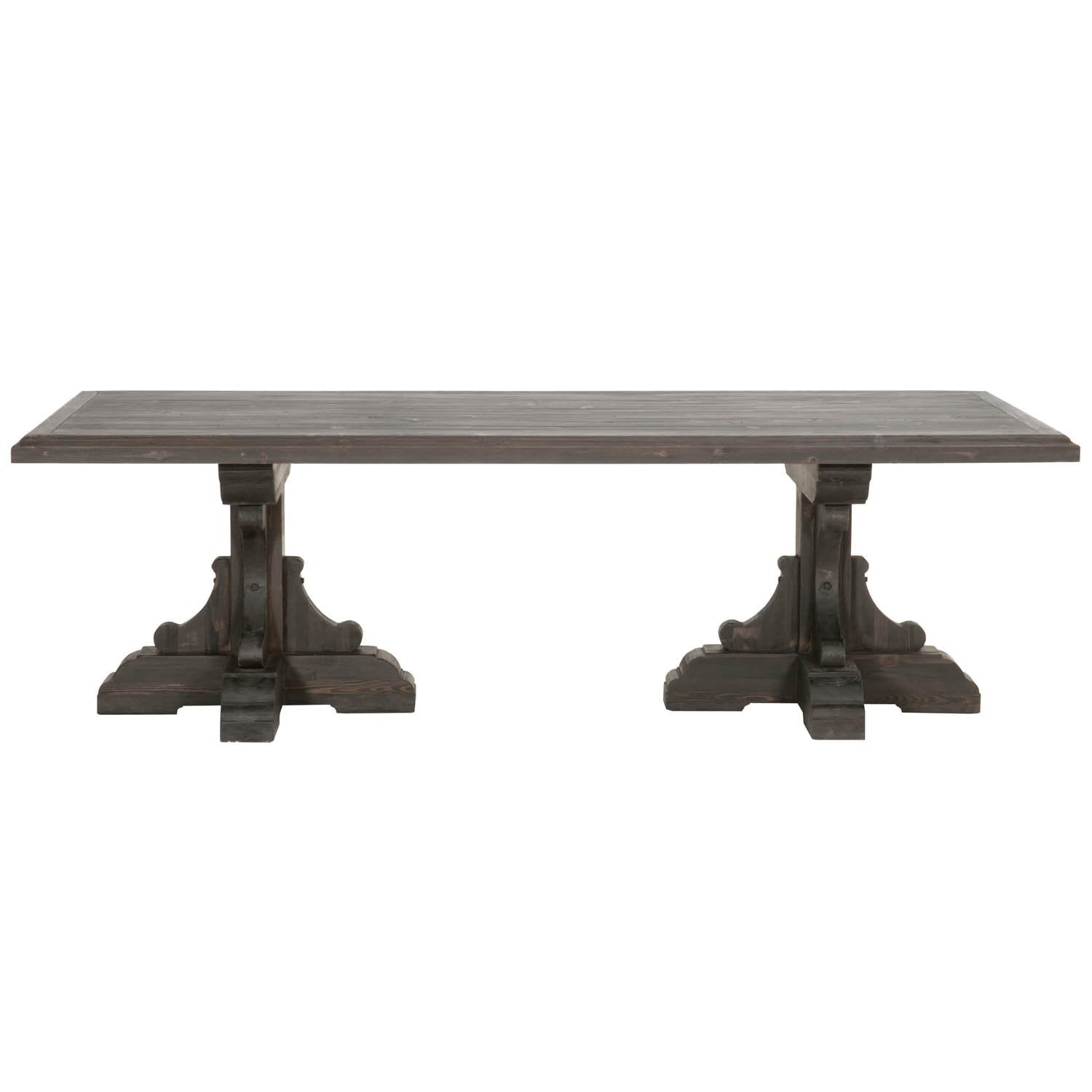 Bastille Rectangle Dining Table in Reclaimed Black Wash Pine