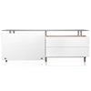 Bellini Medium Buffet in 12MM Tempered Super White Glass