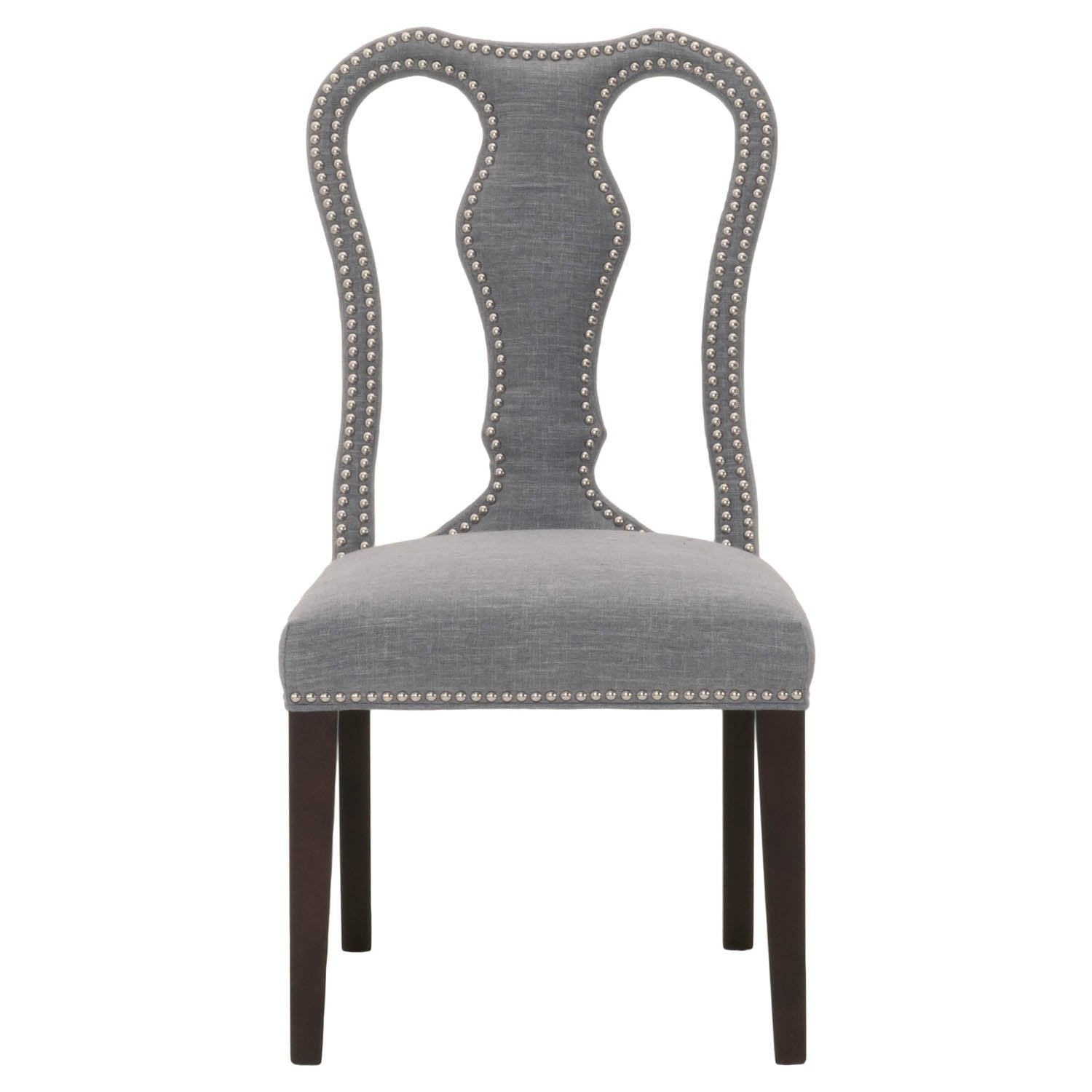 Bloom Dining Chair (Set of 2) in Smoke Fabric