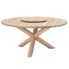 Boca Outdoor Lazy Susan in Gray Teak