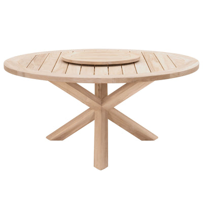 "Boca Outdoor 63"" Round Dining Table in Gray Teak"