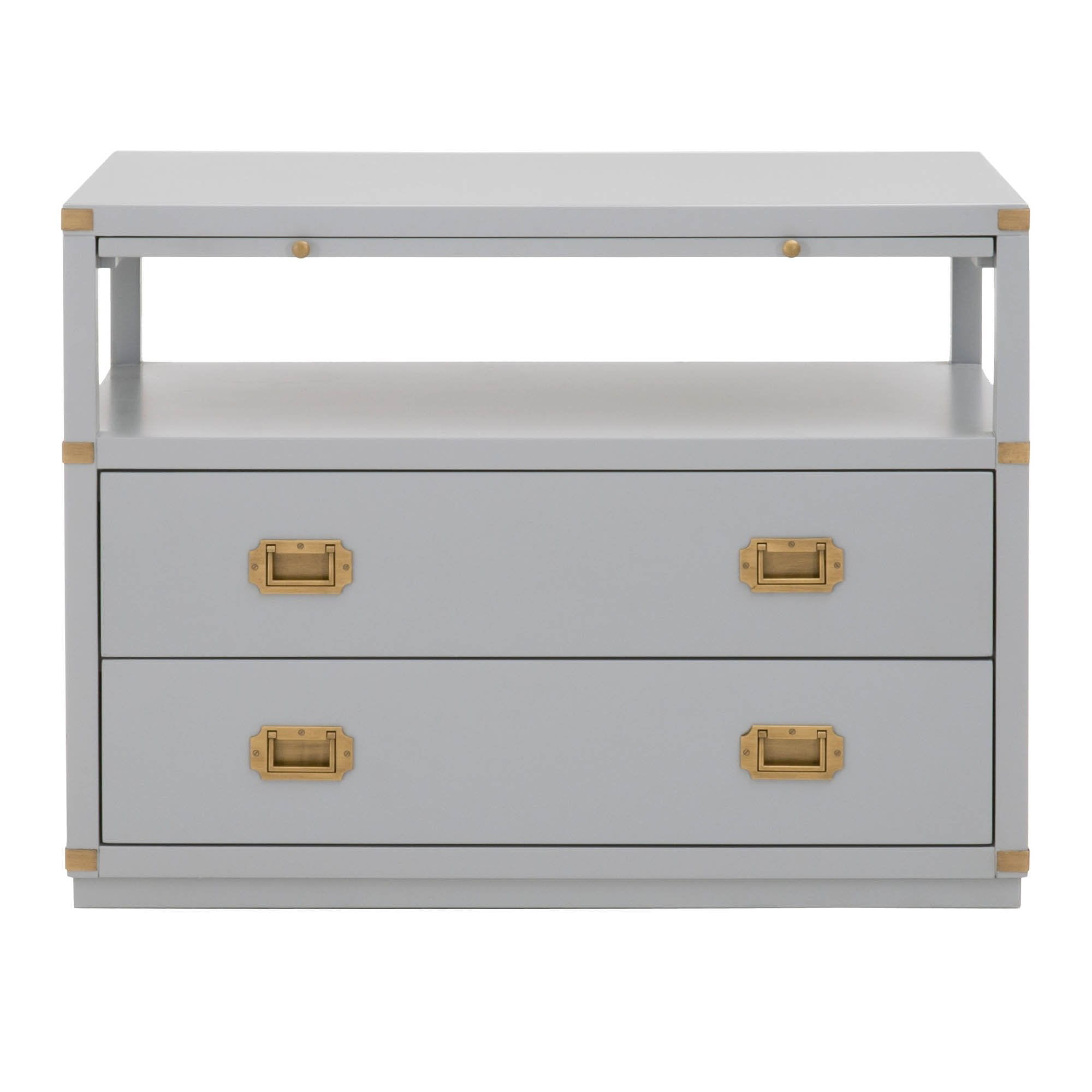 Bradley 2-Drawer Nightstand in Dove Gray