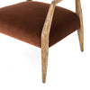 Tyler Arm Chair - Burnt Auburn Velvet