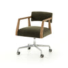 Tyler Desk Chair - Modern Velvet Loden