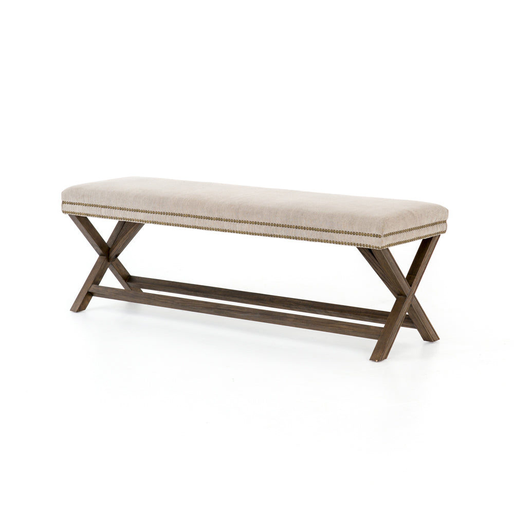 "Elyse Bench - 59"" - Heather Twill Stone"