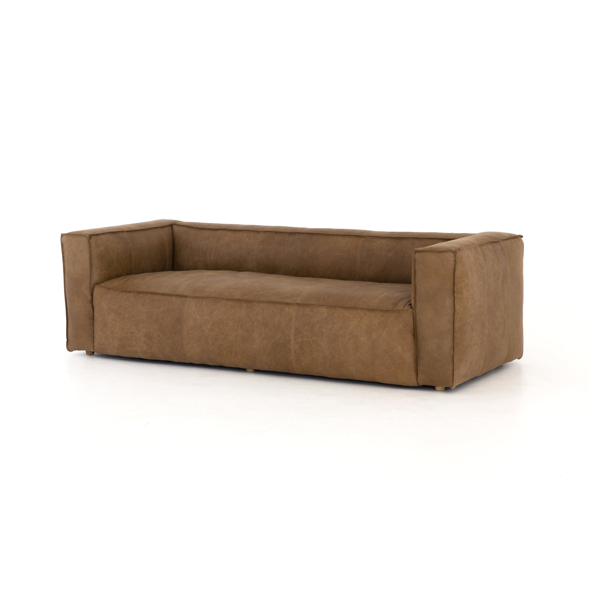 "Nolita Reverse Stitch Sofa - 99"" - Nat Wash"