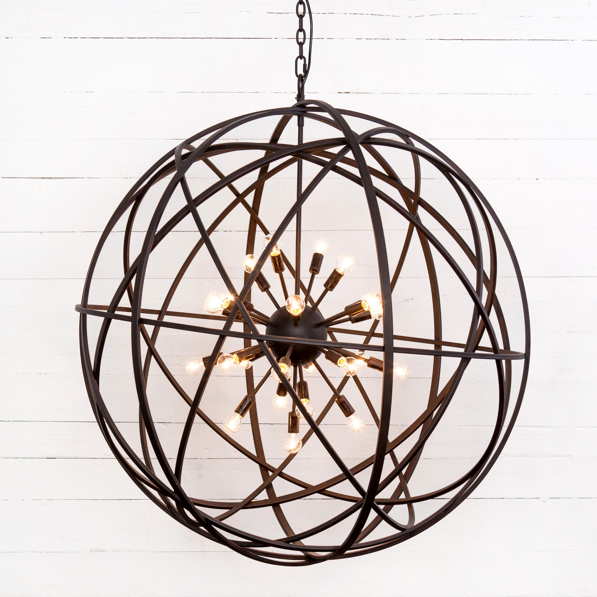 Tennyson Large Chandelier - Rust