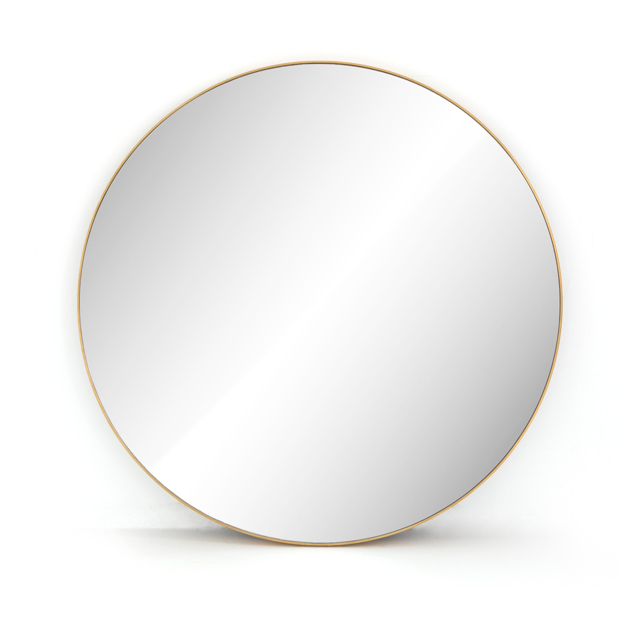 Bellvue Round Mirror - Polished Brass