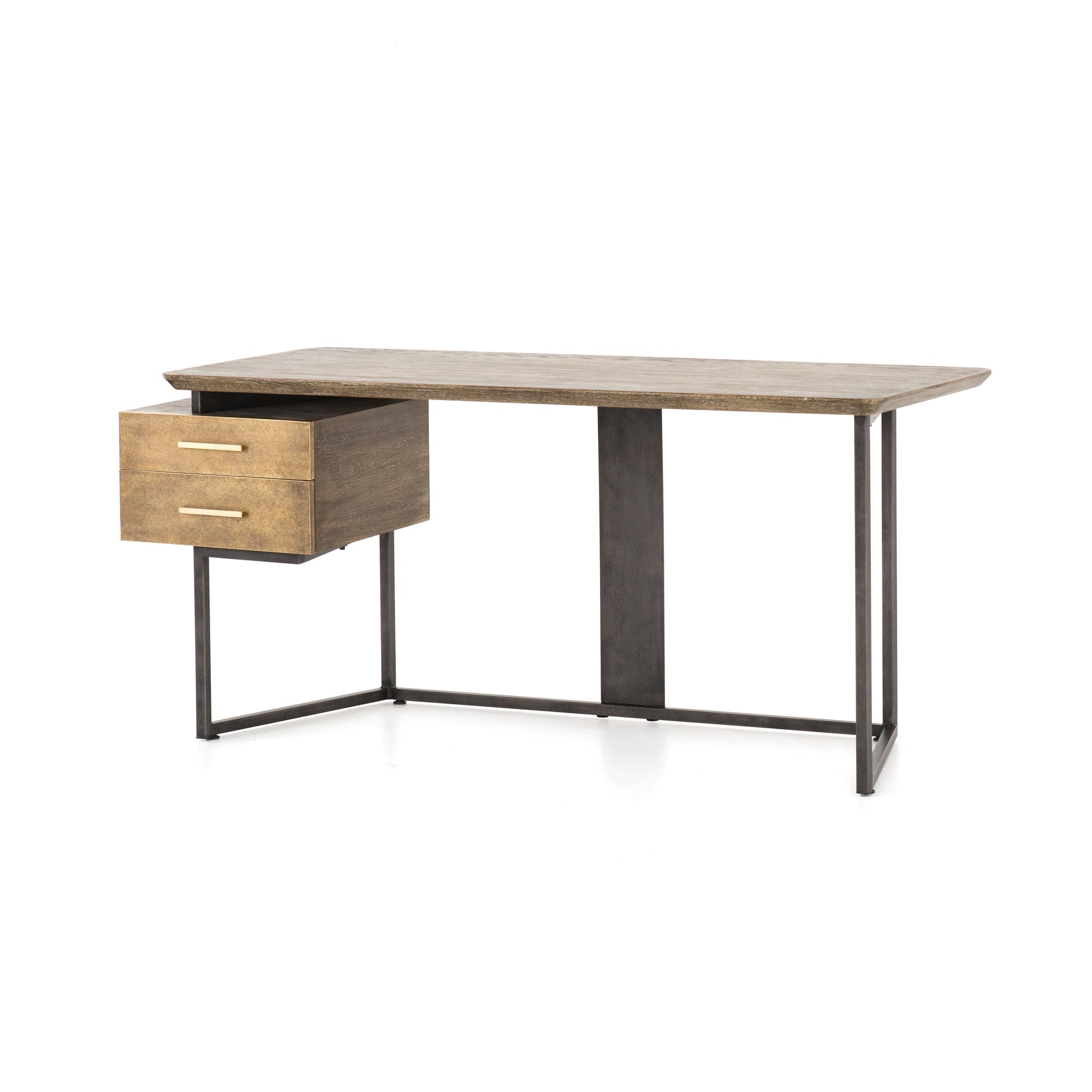 Alden Desk - Oak Burnt Veneer