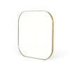 Bellvue Square Mirror - Polished Brass