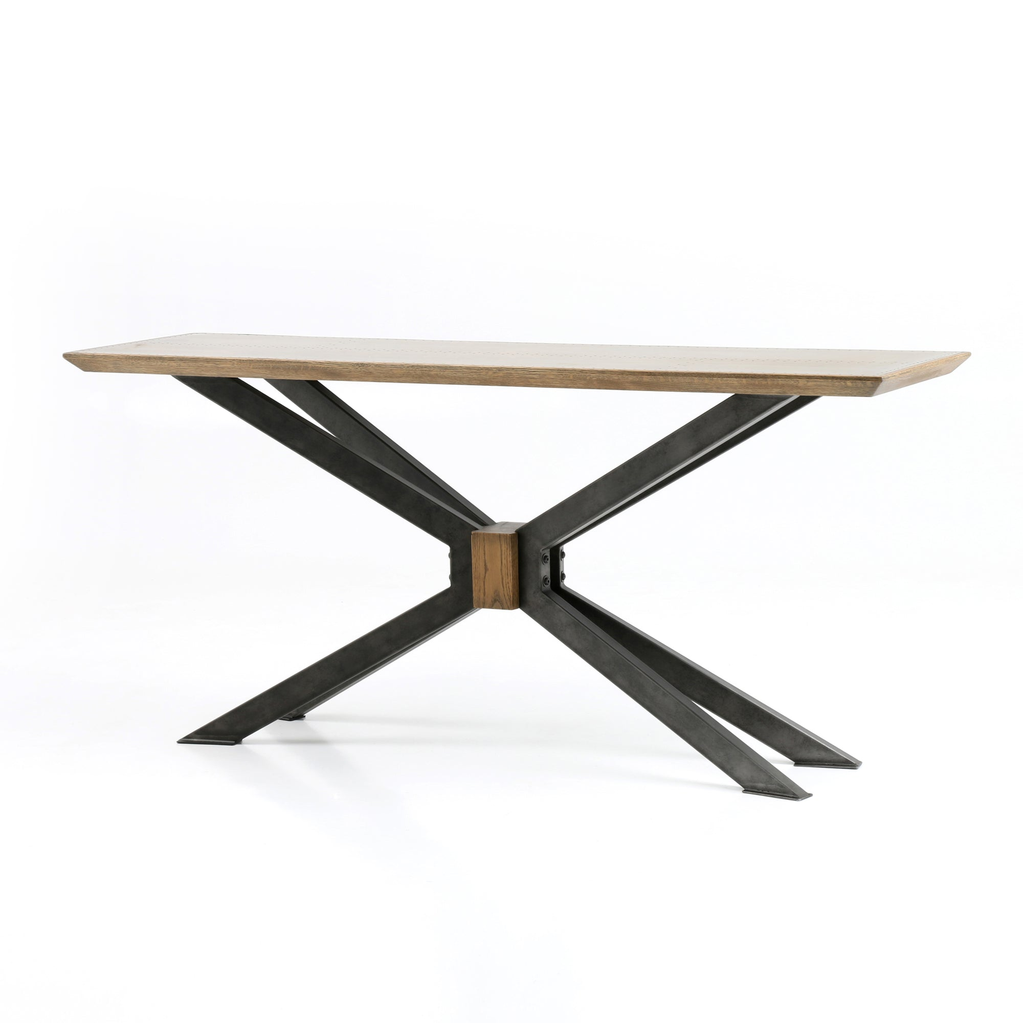 Spider Console Table - Bright Brass Clad