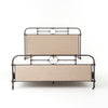 Berkley Metal King Bed - Palm Ecru