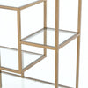 "Helena Brass Bookshelf - 102"" - Antique Bras"