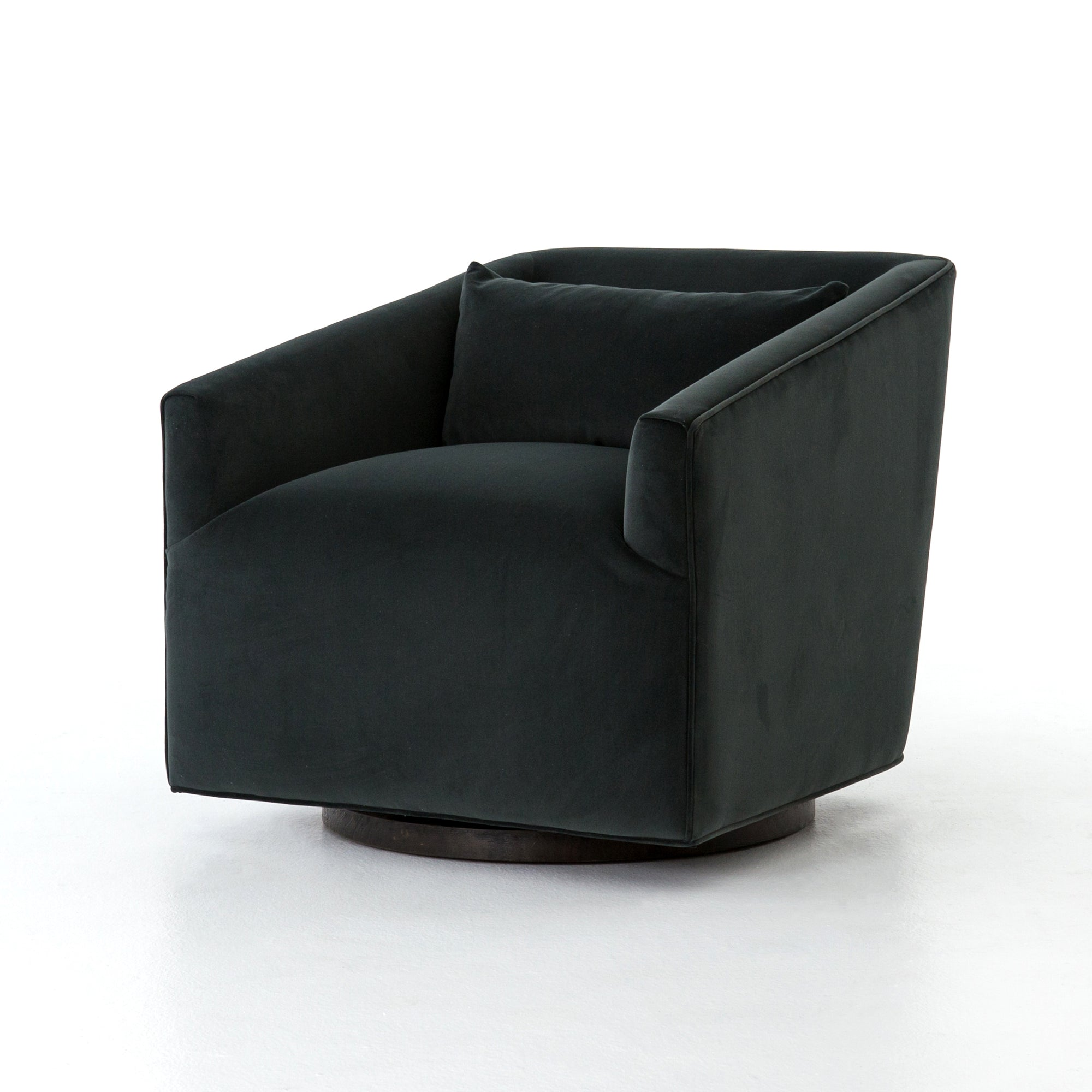 York Swivel Chair - Modern Velvet Smoke