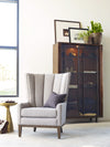 Channelled Wing Chair - Chess Pewter