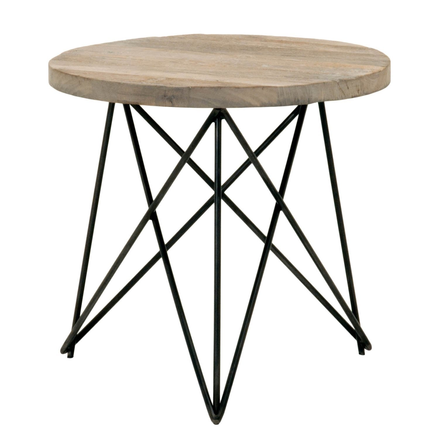Canvas Accent Table in Smoke Gray Elm