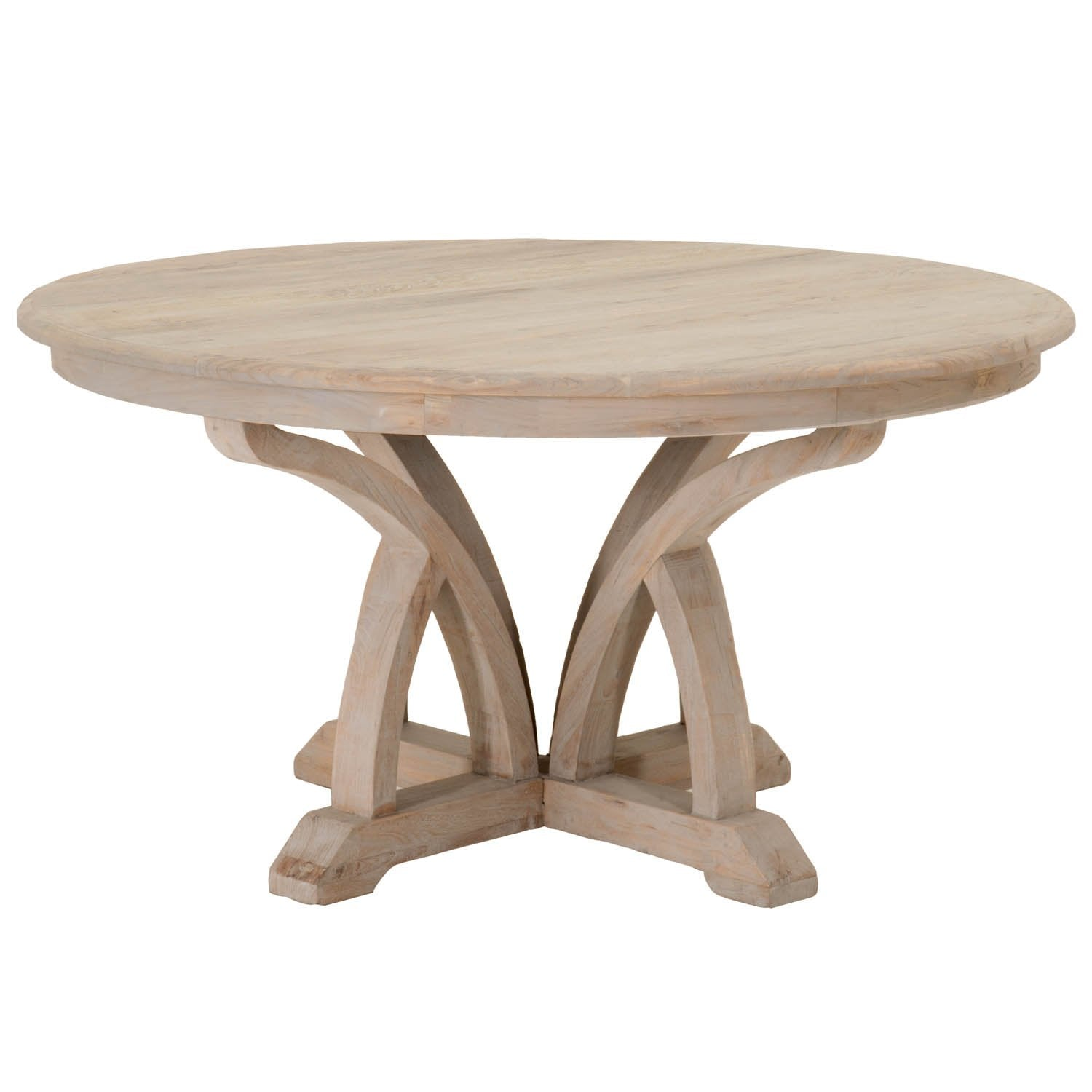 "Carnegie 60"" Round Dining Table in Smoke Gray Elm"