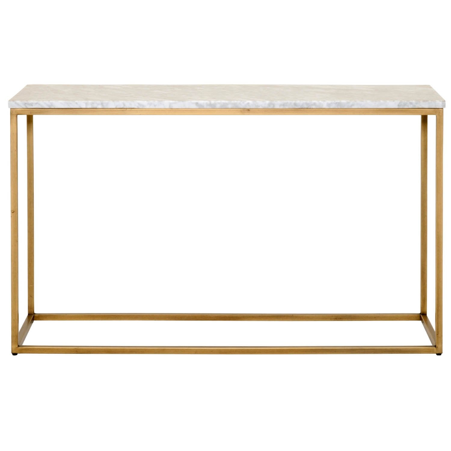 Carrera Console Table in White Carrera Marble