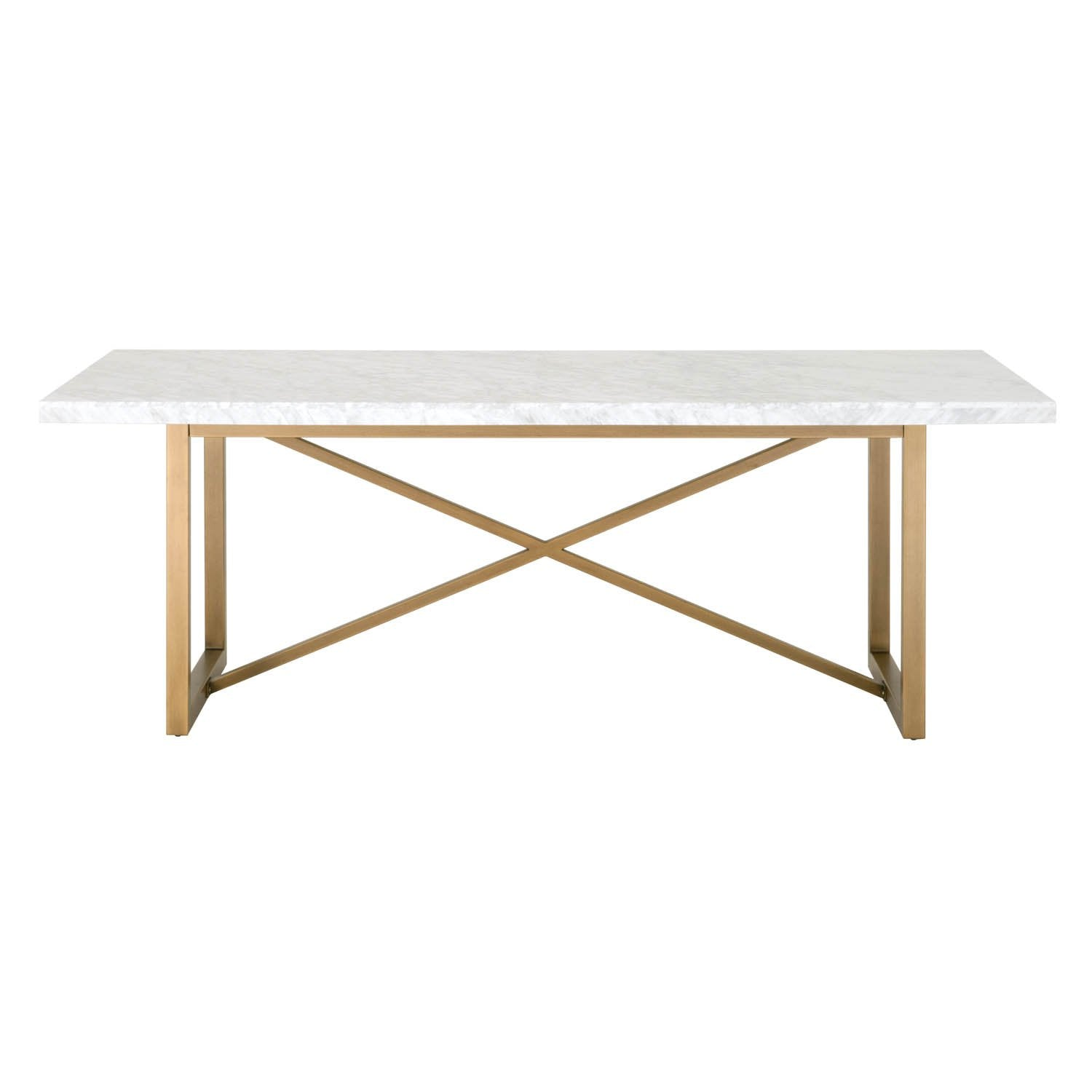 Carrera Dining Table in White Carrera Marble