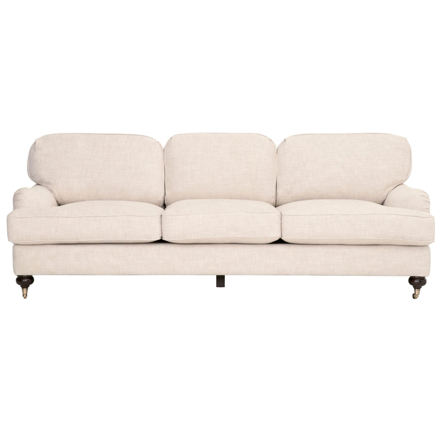 "Charles 93"" Sofa in Bisque French Linen"