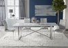 Carrera Dining Table in Brushed Stainless Steel
